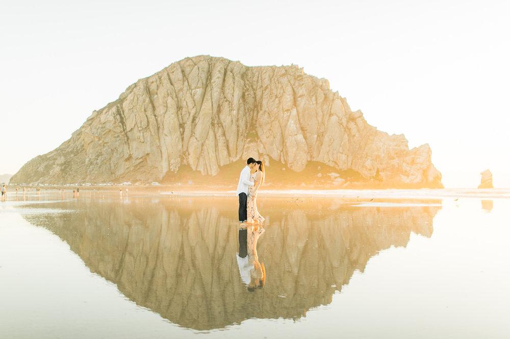 morro rock beach engagement kristyn villars photography