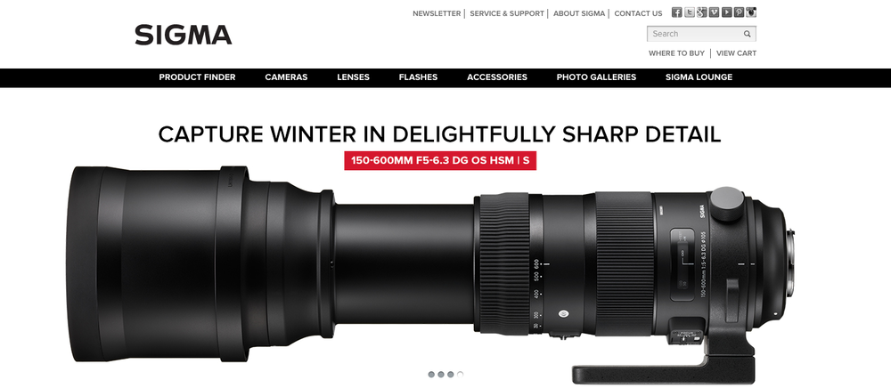 Sigma Lenses  //  Blue Collar Agency  // summer > fall 2015 concepting and writing campaign headlines and subheads, and product messaging
