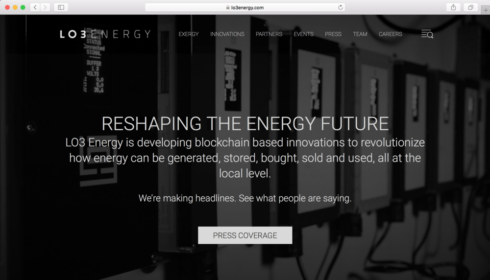 LO3 Energy landing page with campaign line