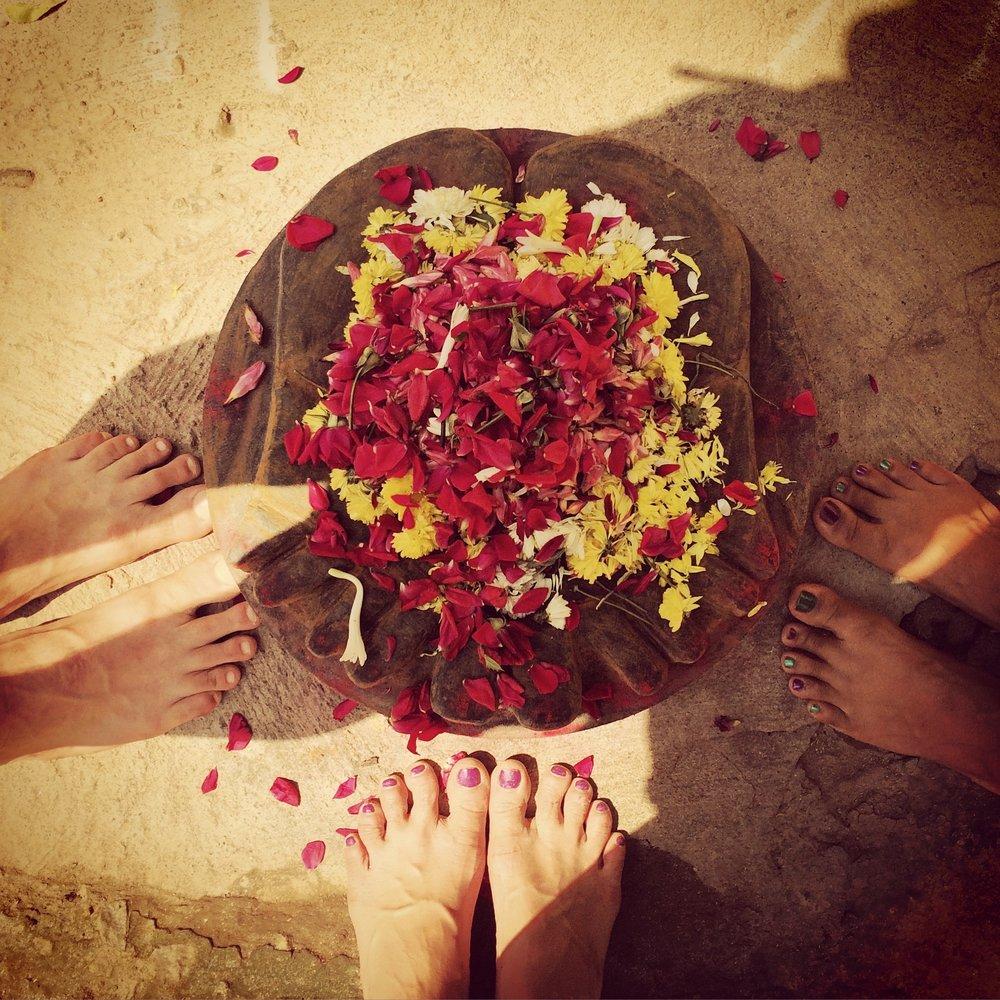 Pilgrim feet, Tiruvannamalai