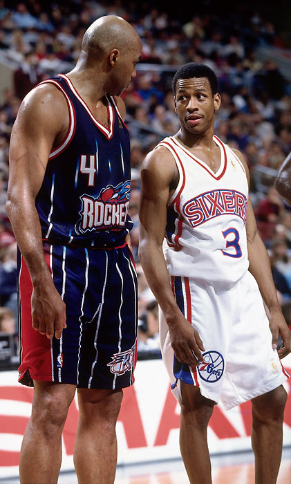 Both Iverson and Barkley led their team to the NBA Finals but that would be the only trip for both.  (AP PHOTO)