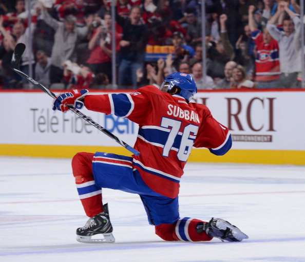 P.K SUbban was named to the 2013 NHL First All-Star Team and James Norris memorial winner. (Francois Lacasse/NHLI via Getty Images)