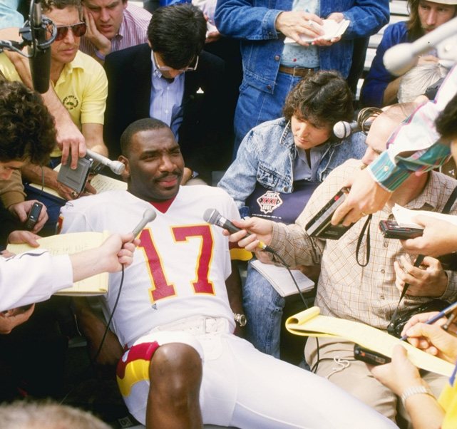 Doug Williams during Super Bowl 22 media Day. (Mike Powell/Getty Images)