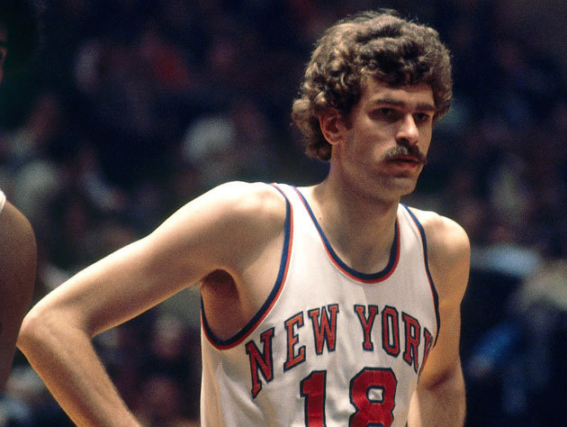 Phil Jackson played 10 season with the Knicks from 1967-1978 averagung 6 points and 3 boards. Jackson was also apart of the 1973 championship team that included Dave DeBusschere, Walt Frazier, Earl Monroe, and Willis Reed. (Getty Images)