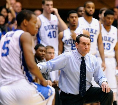 Coach Mike Krzyzewski has with make his 30th appearance in the NCAA tournament and has a career tourney record of 89-25. This has been coach K's most athletic team but haven't been as consistent on defense and three point shooting as Duke teams of the past. (Getty Images)