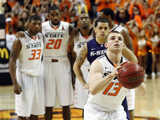 Oklahoma State has been through a lot this year, most notably the lost of Marcus Smart for 3 games. (AP Photo/Sue Ogrocki)