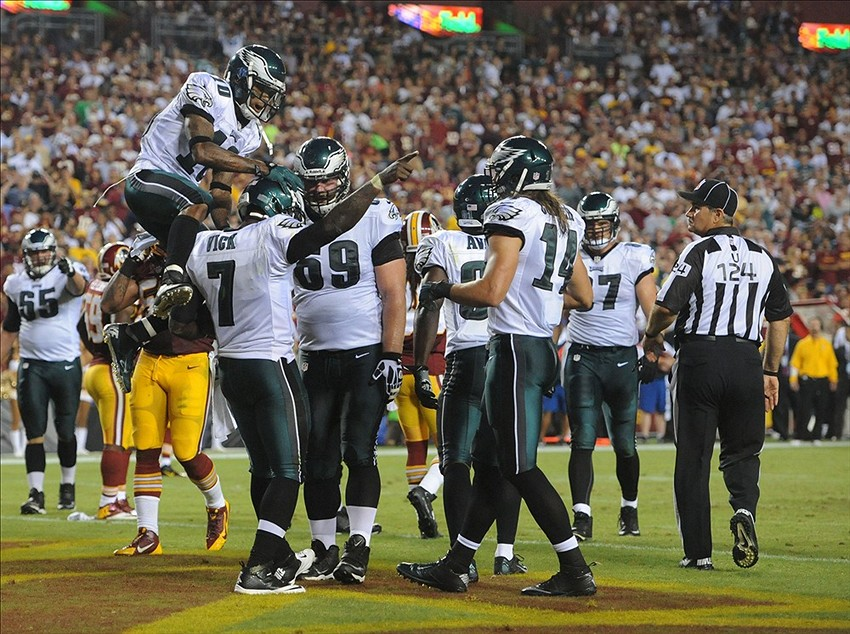 In 4 seasons with the Eagles, Vick could lead them to one playoff appearance in 2010. (Brad Mills-USA TODAY Sports)
