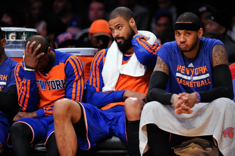 Knicks are 29-42, 2 games out of the playoffs with 11 games left. Can they make the playoffs?  (ROBERT HANASHIRO/USA TODAY SPORTS)