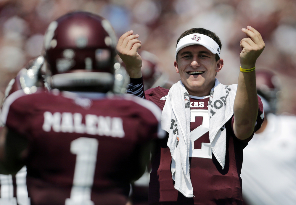 Johnny Cr'Nack has said that his celebrations is not a money gesture but instead,  from rapper Drake. I believe Manziel but I know it's some added meaning to it, especially when you factor in his history with the NCAA. (AP Photo)