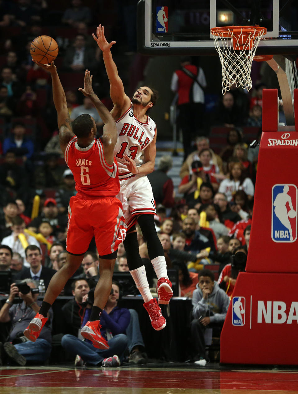 Without Derrick Rose for the second year in a row, Noah has become the Bulls anchor on both sides of the ball with pure passion and hustle. (Chris Sweda / Chicago Tribune)