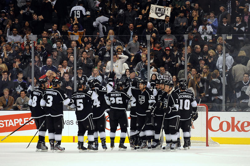 Kings defeated the Sharks 4-1 to force a game 7, after starting the series down 0-3.(Noah Graham/NHLI via Getty Images)