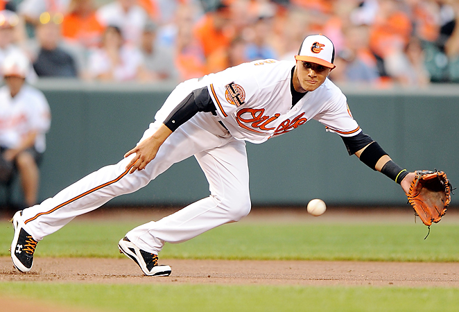 Manny Machado suffered a knee injury last September and went through off-season sugery in October. He has yet to play in 2014 season. (AP Photo)