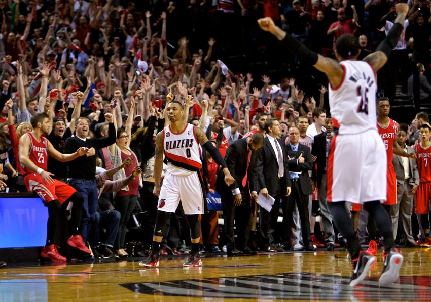 Damian Lillard averaged 25.5 points, 6.7 dimes, 6.3 boards and shooting 49% from behind the arc. (Craig Mitchelldyer-USA TODAY Sports)