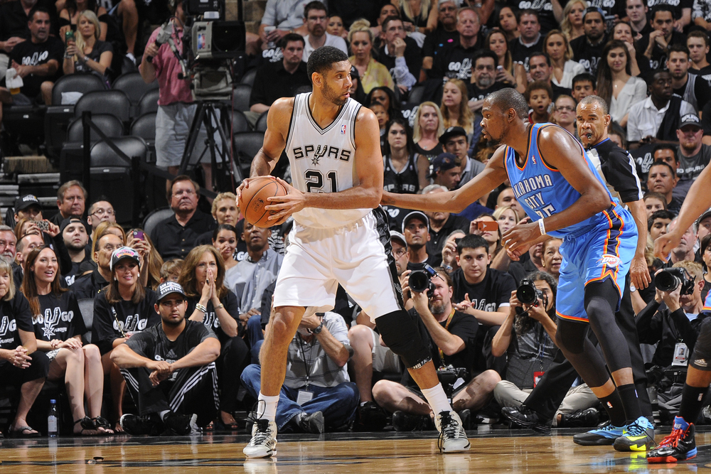 Without Serg Ibaka, the Spurs have dominated the Thunder inside, scoring 120 points in the paints in 2 games. (AP Photo)