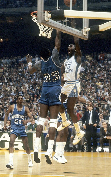 Jordan wore converses for 3 years while attending North Carolina, who had a deal with the shoe company.