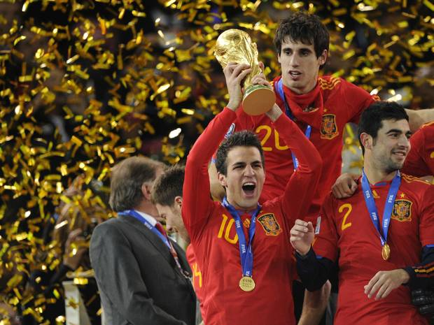 The Spaniards look to win back-to-back World Cup titles also coming off of their dominant defensive run in the 2012 Euro Cup. (AP Photo)