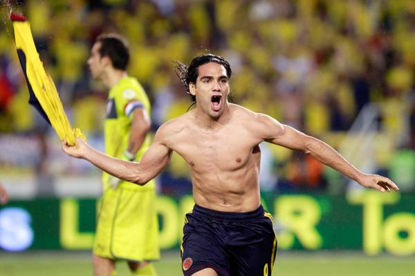 The Columbians haven't been to the Cup since 1998 but striker Radamel Falcao will do his best to make this an extended trip in Brazil. (AP Photo)