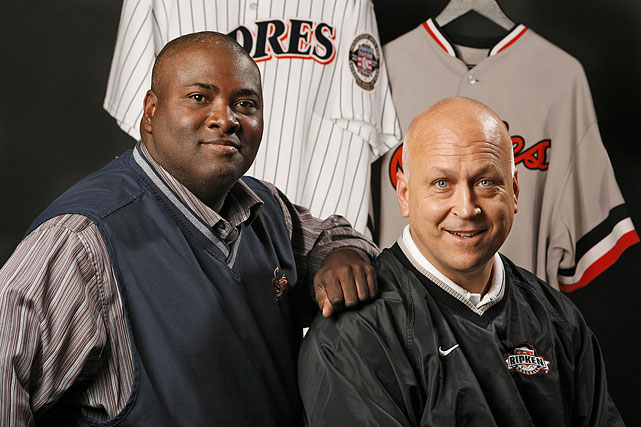 Tony Gwynn and Cal Ripken were both inducted into the National Baseball Hall of Fame and Museum together back in 2007. Combined these two have a batting average of .307, 2,833 RBIs, 6,325 hits, and 41 years in the MLB. (Robert Beck/SI)