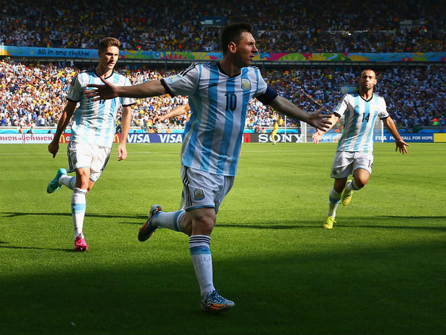 So far Lionel Messi has been a man on a mission for the Argentinians (RONALD MARTINEZ/GETTY IMAGES)