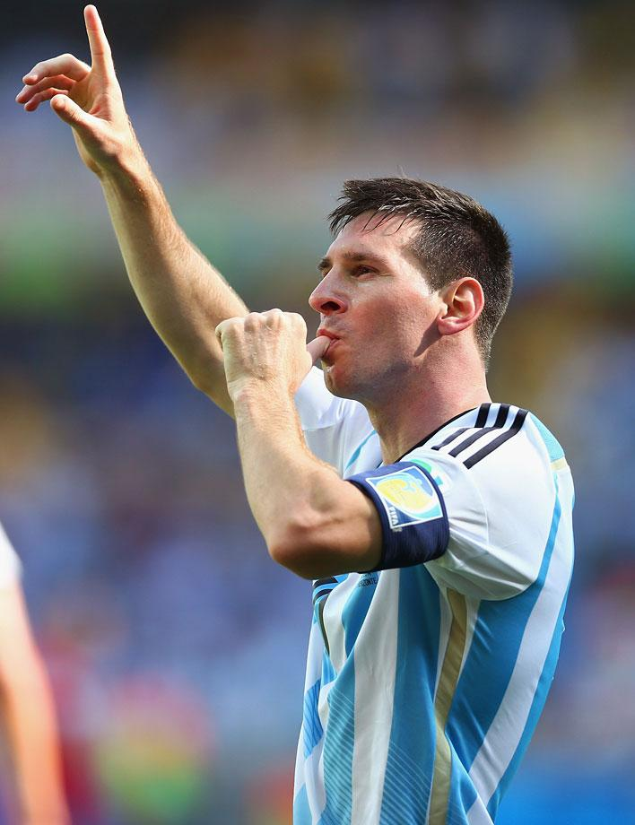 Lionel Messi had only 1 goal in hs previous 2 trips to the World Cup. So far he has 4 goals and 1 assist in the 2014 World Cup and looks to be the likely recipient of the Golden Ball, which goes to the most outstanding player of the Tournament. ( Ronald Martinez/Getty Images)
