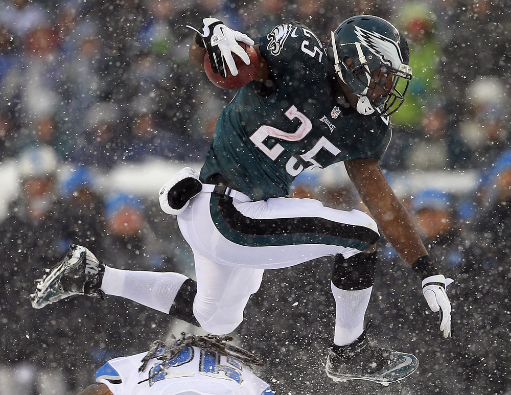 This was definitely one of the best performances I seen from a player in 3 inches of snow. Shady made it look like it was a clear Autumn day in Philly. (Getty Images)