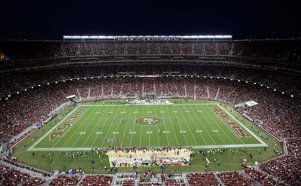 A brand new stadium in right outside of San Jose, may seem like a relocation for some Niner fans. I'm sure a loss in the home opener was not on the agenda. (Ezra Shaw/Getty Images)