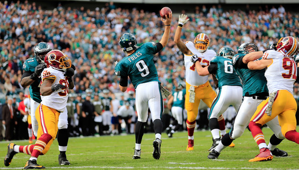 """""""In Foles we trust"""" that's the motto for the birds right now. (Rob Carr/Getty Images North America)"""