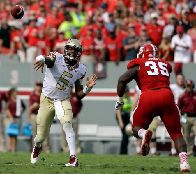 Winston played a great game yesterday. Anytime the Noles had to answer NC-State's offense, Winston and the Noles offense delivered, (AP Photo/Gerry Broome)