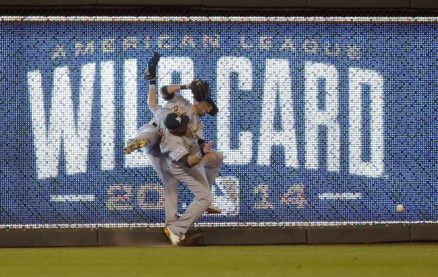 A very bad play by both outfielders. This will go down as one of the biggest bloopers in MLB postseason history.