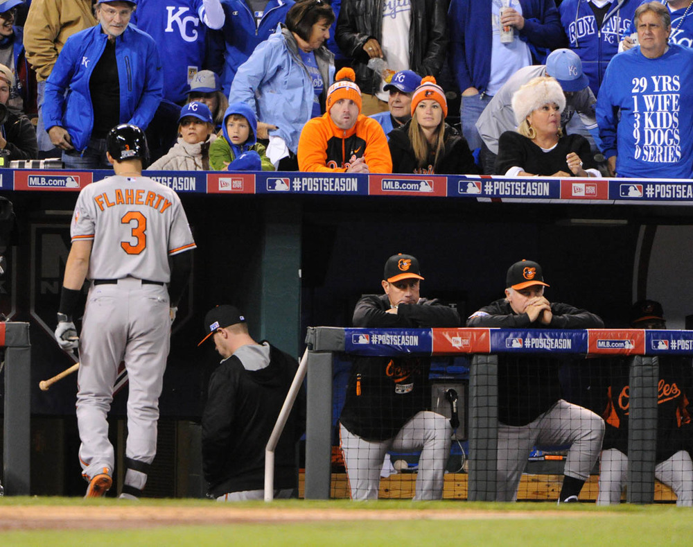 This was a very tough series for everybody apart of Birdland. Everything about this series just seemed hard for the Orioles, nothing at all came easy. And when you think they might have a chance, the Royals make a play to diminish any hope you had left. (Baltimore Sun)