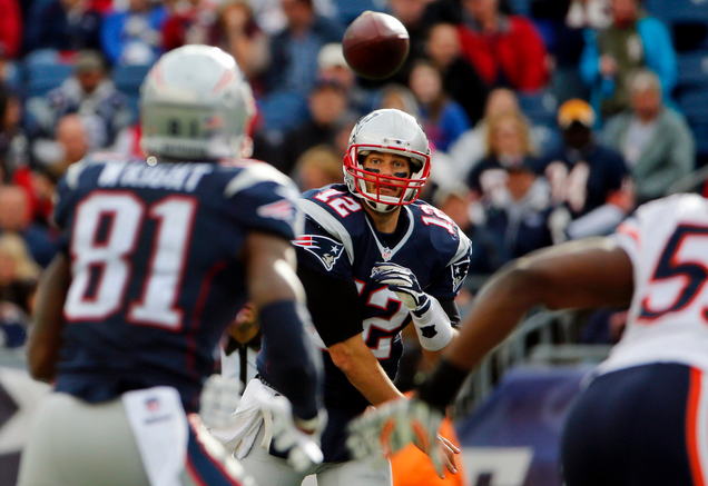 Brady went 30-35 with 5 TDs agsinst the Bears last Sunday. The Patriots walked into halftime with a 38-7 lead, it was over before it started. (AP Photo)