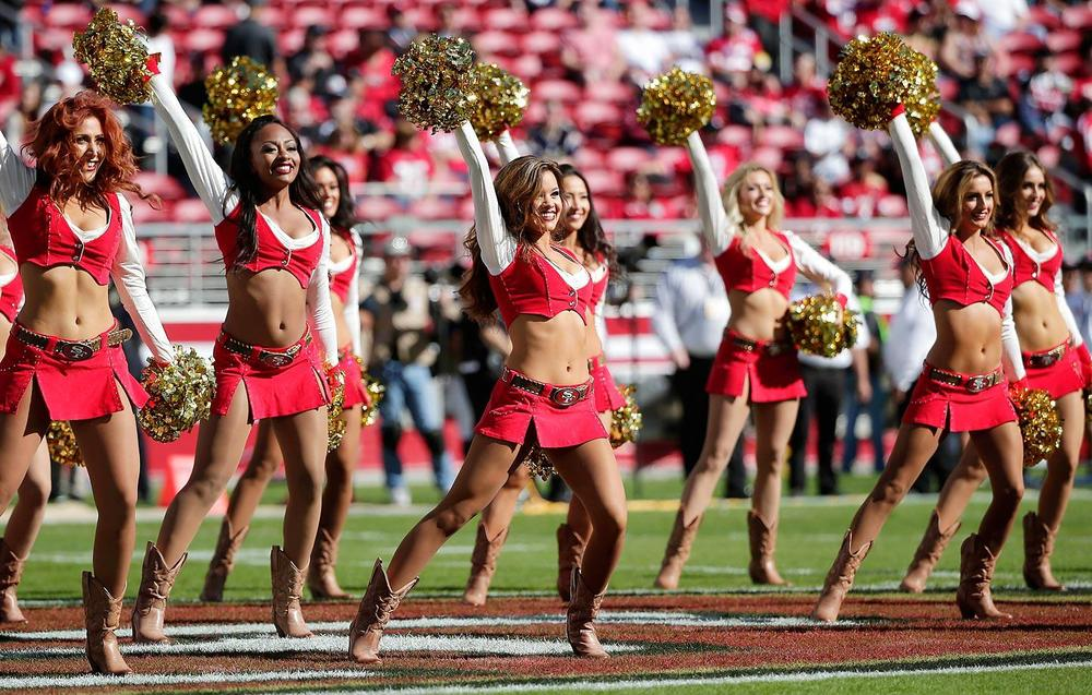 The only positives for the injury-plague  Niners right now is their brand new stadium and beautiful cheerleaders. (Marcio Jose Sanchez/AP)