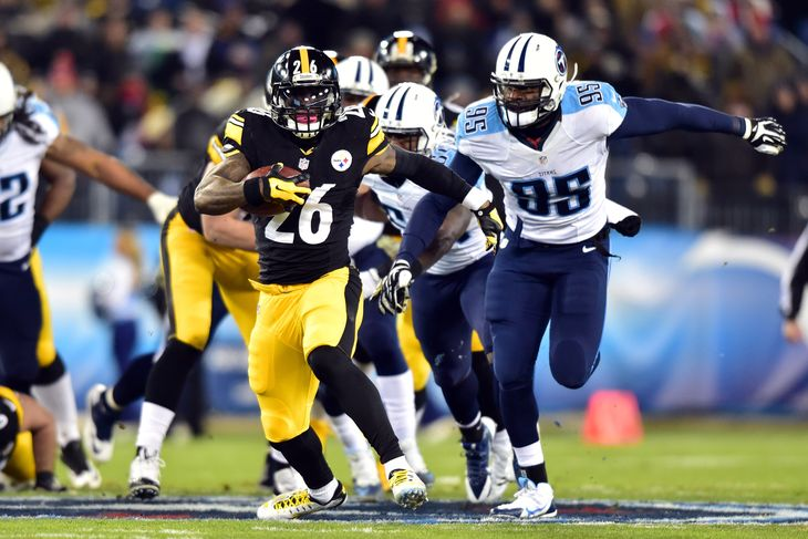 Le'Veon Bell ran the ball very well Monday night. The Steelers need those type of ground & pound games from him every Sunday in order for them to return back to the promise land. Of course they don't need 200 from him every night but tough running is the Steelers way. (AP Photo)