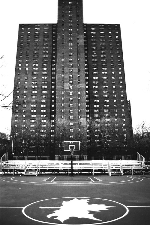 The infamous Polo Ground Towers projects that looms over the Rucker Park.