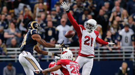 The Cardinals defense held the Rams to 0 TDs and less than 300 total yards. Great performance by the Cards defense. (AP Photo)