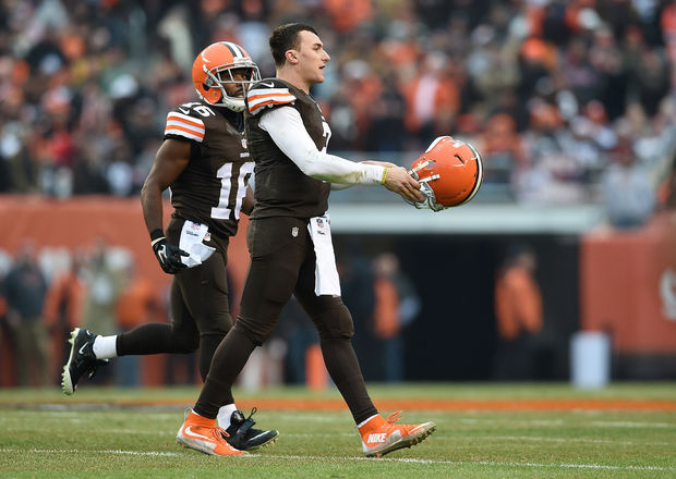 Welcome to the League Johnny Football. (AP Photo)