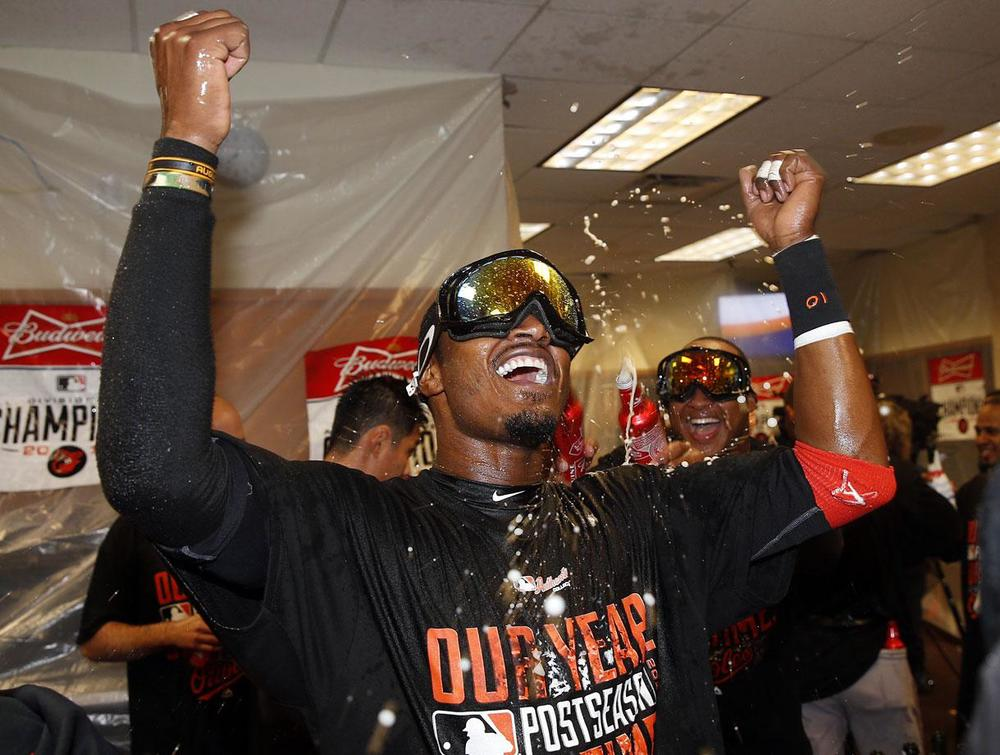 Adam Jones has been apart of the Orioles for 7 years, dating back to when the O's were the bottom feeders of the AL East. In 2014 they posted 96 wins, taking home the AL East title for the first time since 1997. (Paul Sancya/AP)