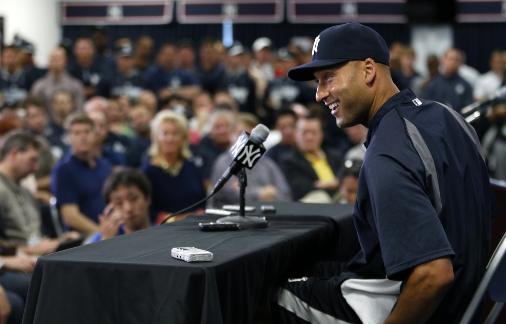 Derek Jeter called it quits this season after playing 19 seasons in the MLB, all for the Yankees. His final numbers are 3,465 hits, 260 HRs, 1,311 RBIs, .310 BA, 4 World Series titles,
