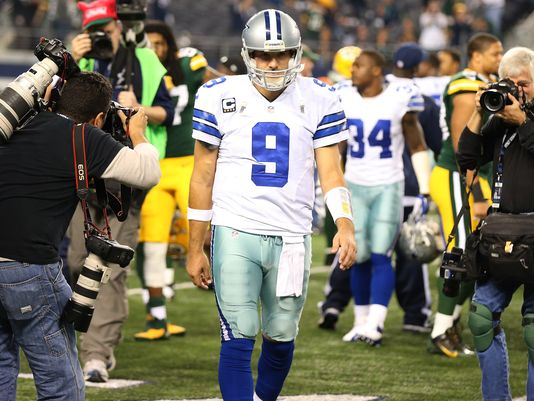 Last time Romo seen the Packers, he threw 2 INTs in the second half, blowing a 23-point lead to a second string QB. Hopefully redemption is on his mind. (AP Photo)