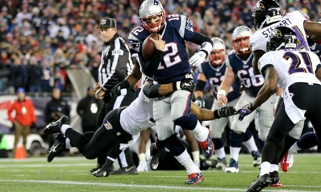 Brady passed Joe Montana for all time leader of touchdown passes with 46. He also scored a rushing TD. (AP Photo)