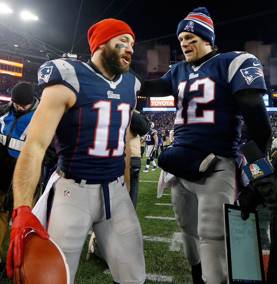 Brady and Edelman connected on 49 first down plays in 2014, 13 in the postseason. Edelman will need to score, something he is not known for. He will have to compliment both Tom and Gronk in the passing game in order for the Patriots to win. (Elise Amendola/AP)
