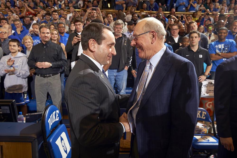 Jim Boeheim will be the next men's coach to reach 1,000 wins. He is currently at 962 wins, all with Syracuse.
