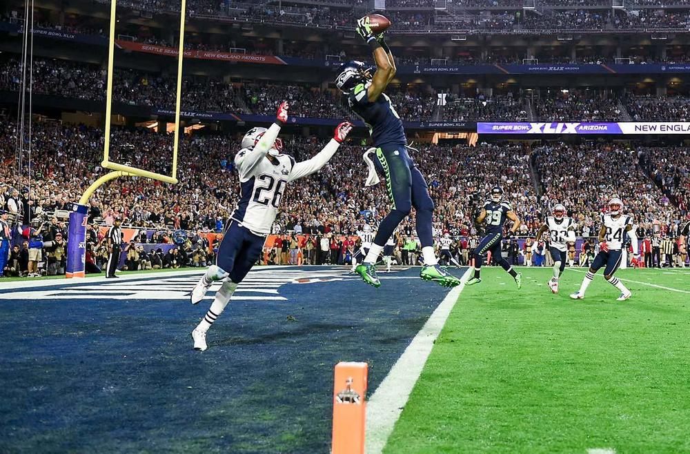 Chris Matthews was working at Footlocker a year ago and Sunday hewas on his way to potentially becoming Super Bowl MVP. Matthews caught 4 passes for 109 yards and was the Seahawks best threat down the field. (Donald Mirale/SI)