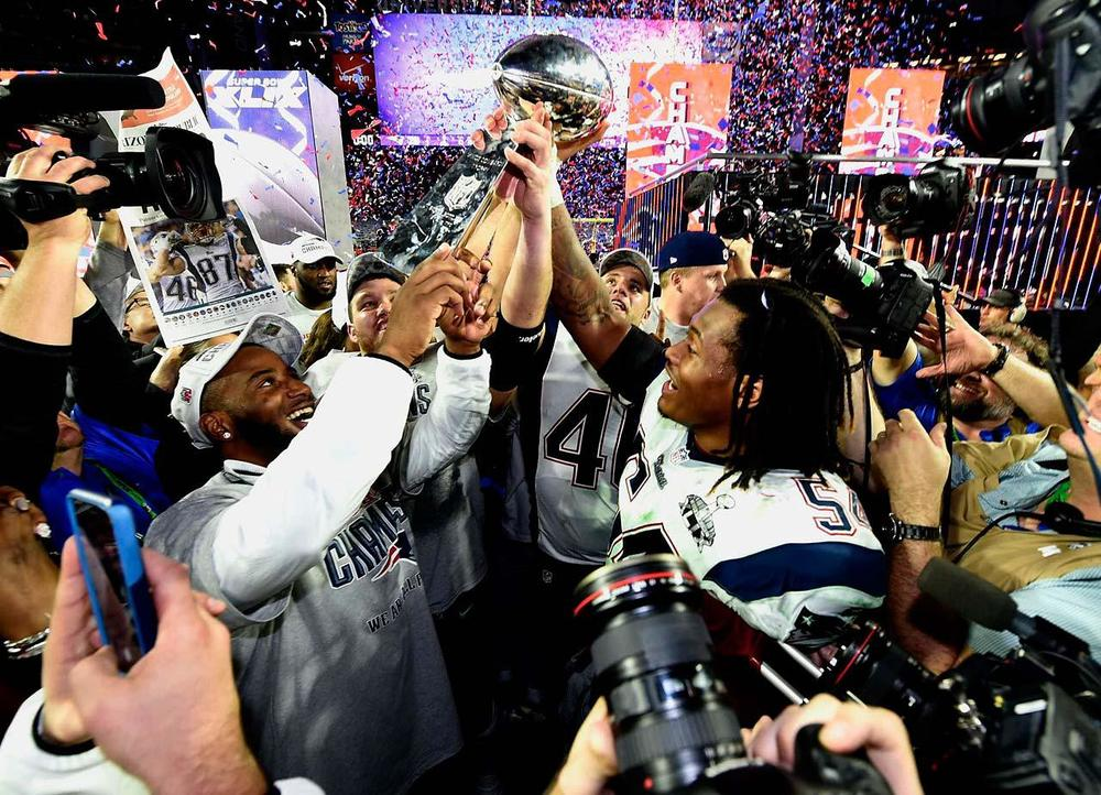 The Patriots manage to find a way to win Super Bowl XLIX, similar to how they went through the season. At one point during the season, they were thought to be done, and like in the Super Bowl, they managed to make something happen, of course with a little luck involved. (Donald Miralle/SI)