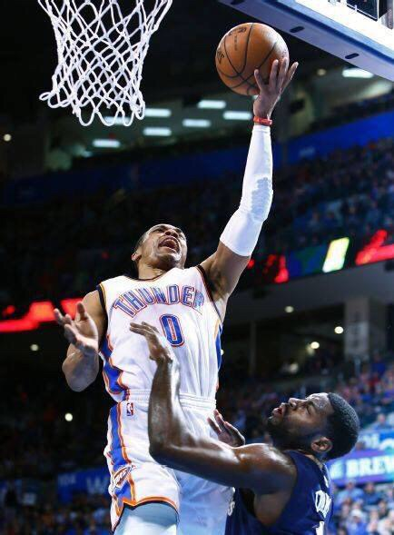 If it wasn't for Davis game winner, Russell would have been the coverboy of this story. Right now, Russell is carrying the Thunder, averaging 25 points, 6 assist, and 7 boards. Russell dropped 40 for the second straight game, dropping 40 in New Orleans Wednesday Night. Last Night he had 48, but I know he is disappointed he didn't get that 50 piece,  plus losing like that.