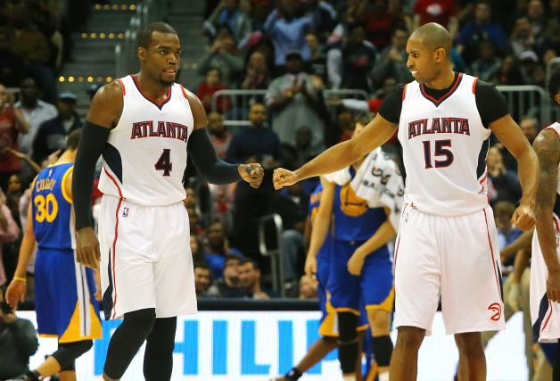 Paul Millsap (left) and Al Horford create a very unique frontcourt. Both can stretch the floor and bang in the paint. Together they combine for 32 points and 15 boards a game. In order for the Hawks to prosper come playoff time, I think those totals will have to increase.