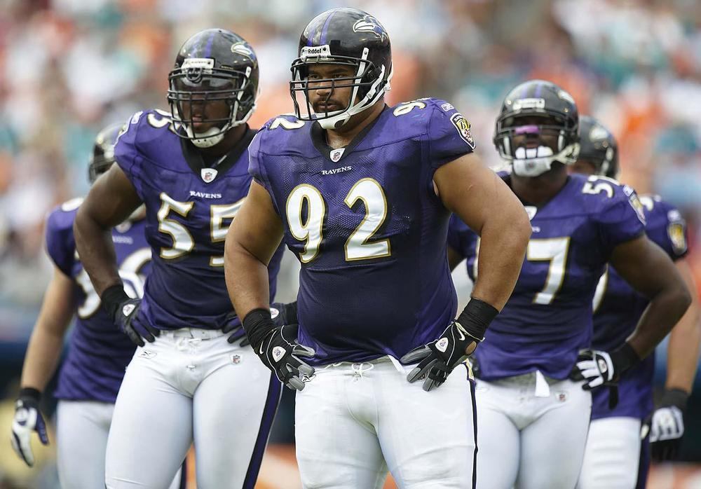 In the last two years the Ravens have let go all of their fan favorites, Ngta and Smith being the latest. It will take fans awhile to get over all the off-season moves. (Bill Frakes/SI)