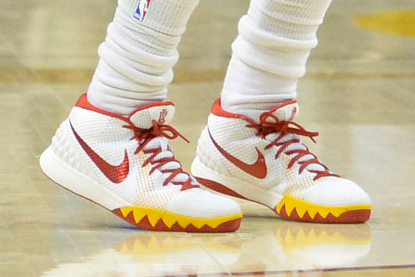 Kyrie wore these bad boys when he dropped 55against the Blazers in late January. No telling when these will hit the stores.
