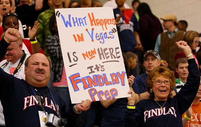 Findlay Prep is ranked 8th in the country, with a 28-2 record. They are the only to appear in the NHIT all 7 years and has the most titles with 3, 2009, 2010, and 2012.