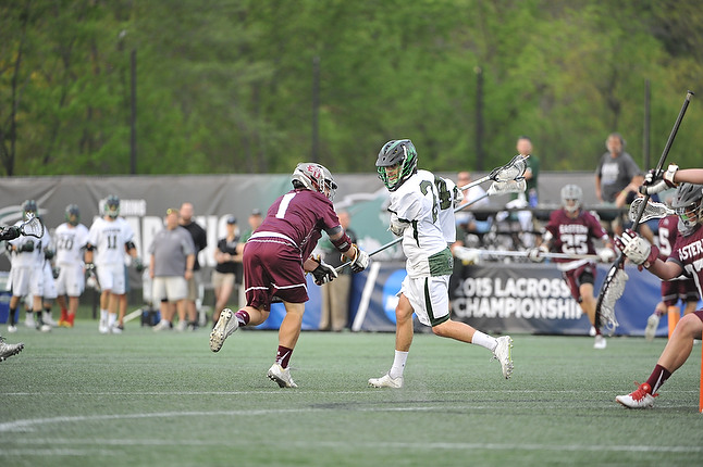 "Connor Curro provided some quality minutes playing defensive middie. To go along with his 3 points he also scooped 4 groundballs and was a big reason why the Stangs was 91% on ""clears"". (Sabina Moran/SKM)"